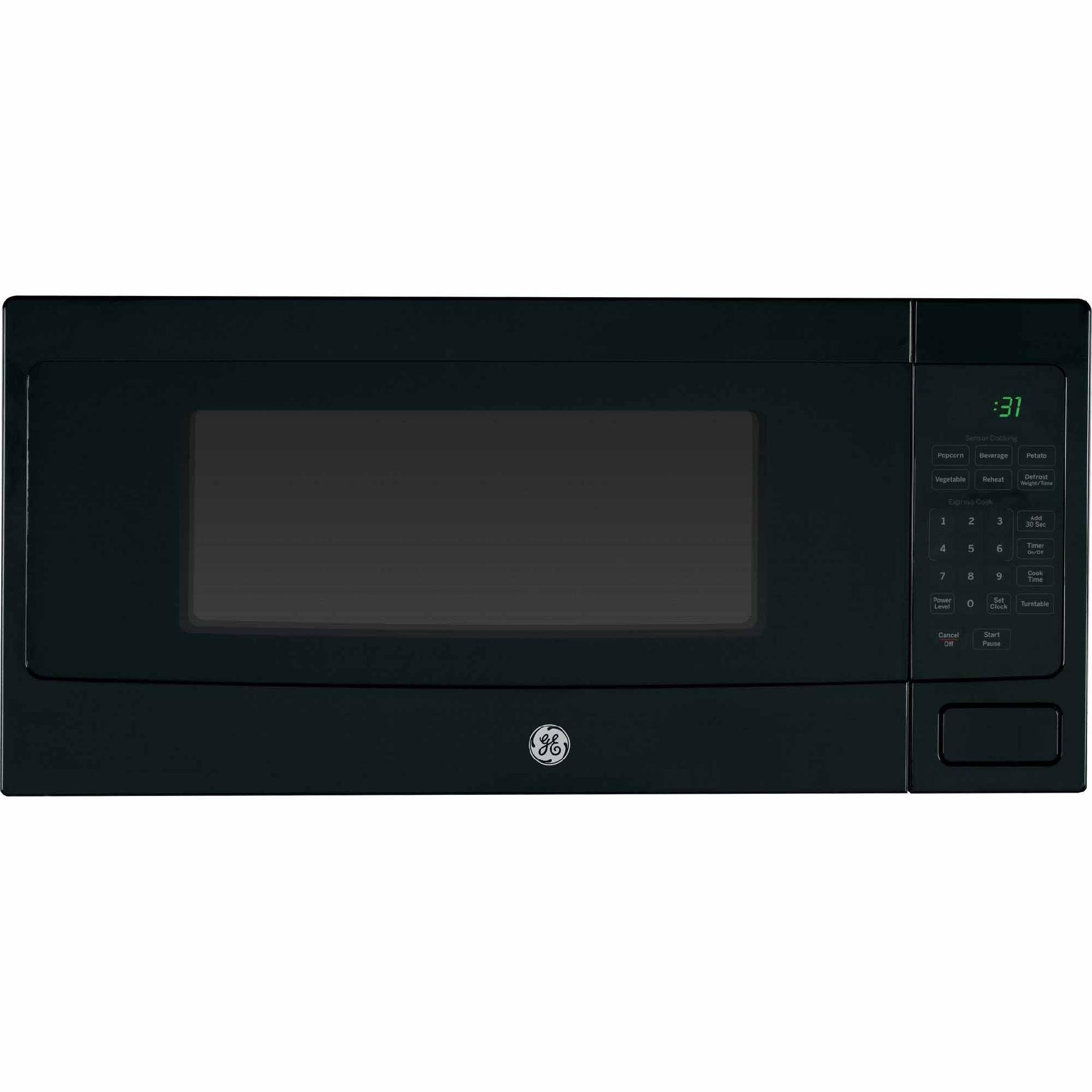 GE� PROFILE� 1.1 CU.FT. COUNTERTOP MICROWAVE OVEN, BLACK, 800 W