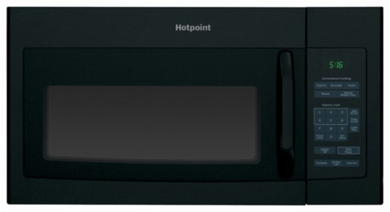 HOTPOINT 1.5 CU. FT. OVER-THE-RANGE MICROWAVE OVEN BLACK