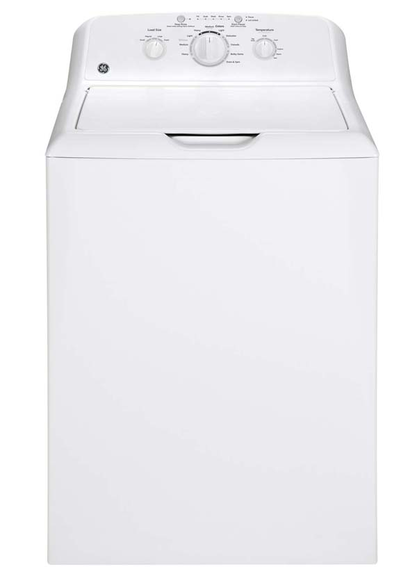 GE� 3.6 CU.FT. TOP LOAD WASHING MACHINE, WHITE, 12 CYCLES