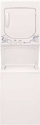 GE UNITIZED SPACEMAKER� 2.0 DOE CU.' WASHER AND 4.4 CU.' ELECTRIC DRYER, WHITE