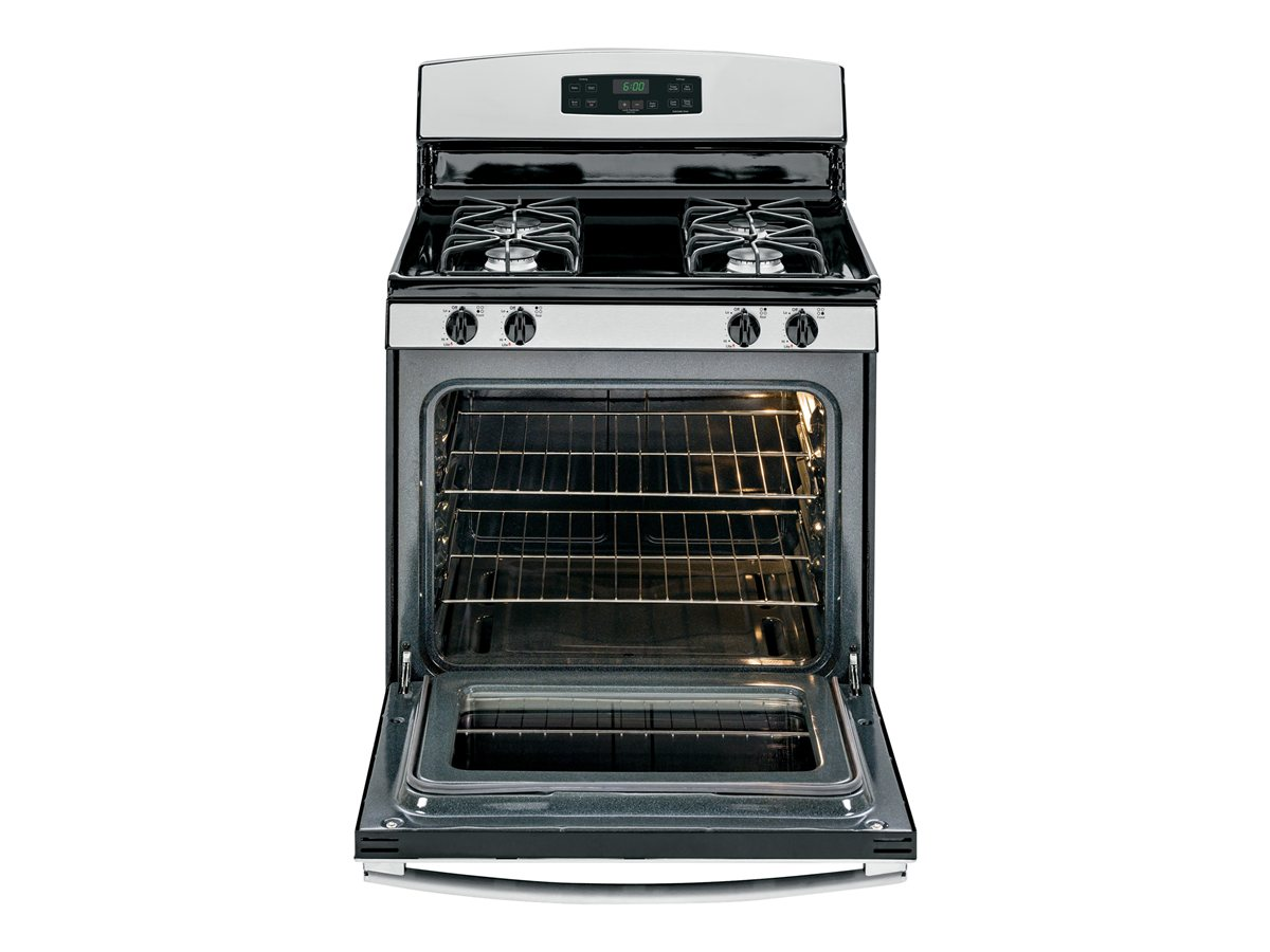 GE� 30-INCH 4.8 CU. FT. FREE-STANDING GAS RANGE, STAINLESS
