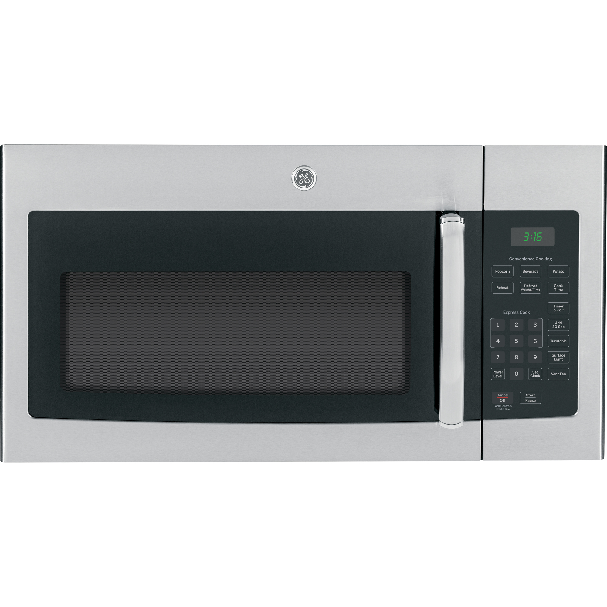 GE� 1.6 CU. FT. OVER-THE-RANGE MICROWAVE OVEN, STAINLESS, 1000 WATTS