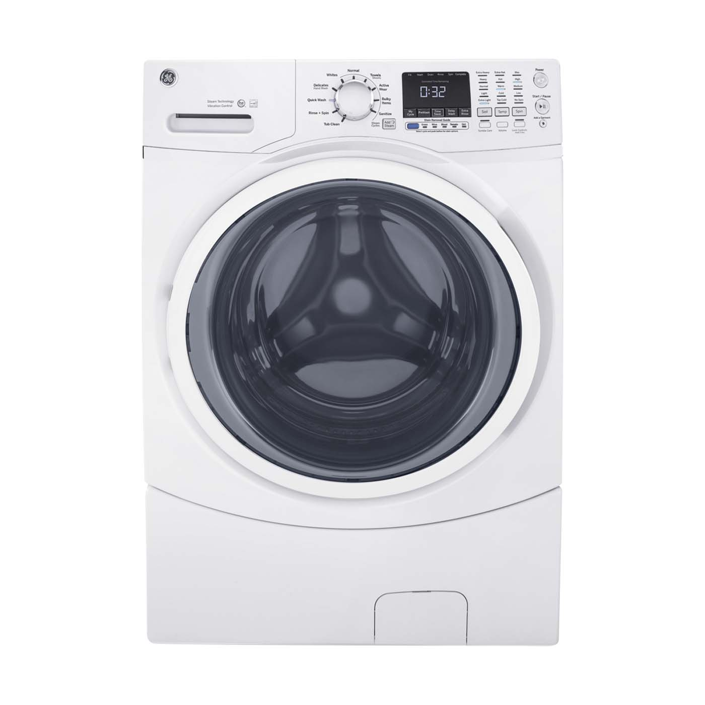 GE� 4.3 CU. FT. FRONT LOAD WASHING MACHINE, WHITE, 9 WASH CYCLES