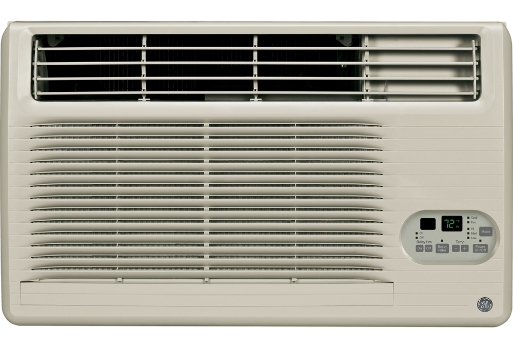 GE� BUILT-IN COOL-ONLY ROOM AIR CONDITIONER, 230/208 VOLTS, 10,300/10,000 BTU