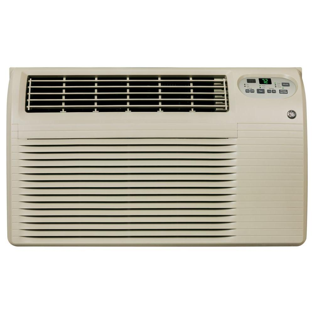 GE� BUILT-IN ROOM AIR CONDITIONER WITH ELECTRIC HEAT, LOW MOUNT, 230/208 VOLTS