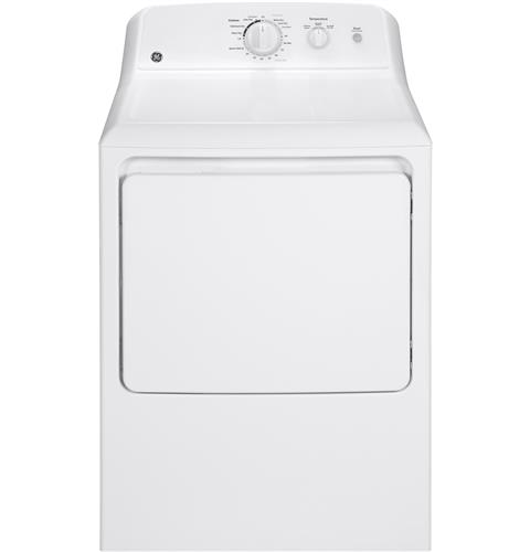 GE� GAS DRYER, WHITE, 6.0 CU. FT.