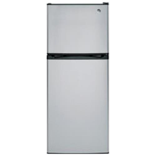 GE� 11.6 CU. FT. TOP-FREEZER REFRIGERATOR, REVERSIBLE DOOR SWING, STAINLESS STEEL