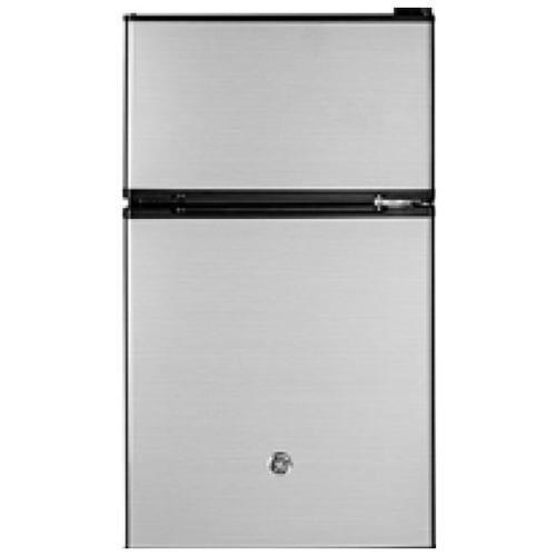 GE® 3.1 cu. ft. Top-Freezer Compact Refrigerator in CleanSteel™