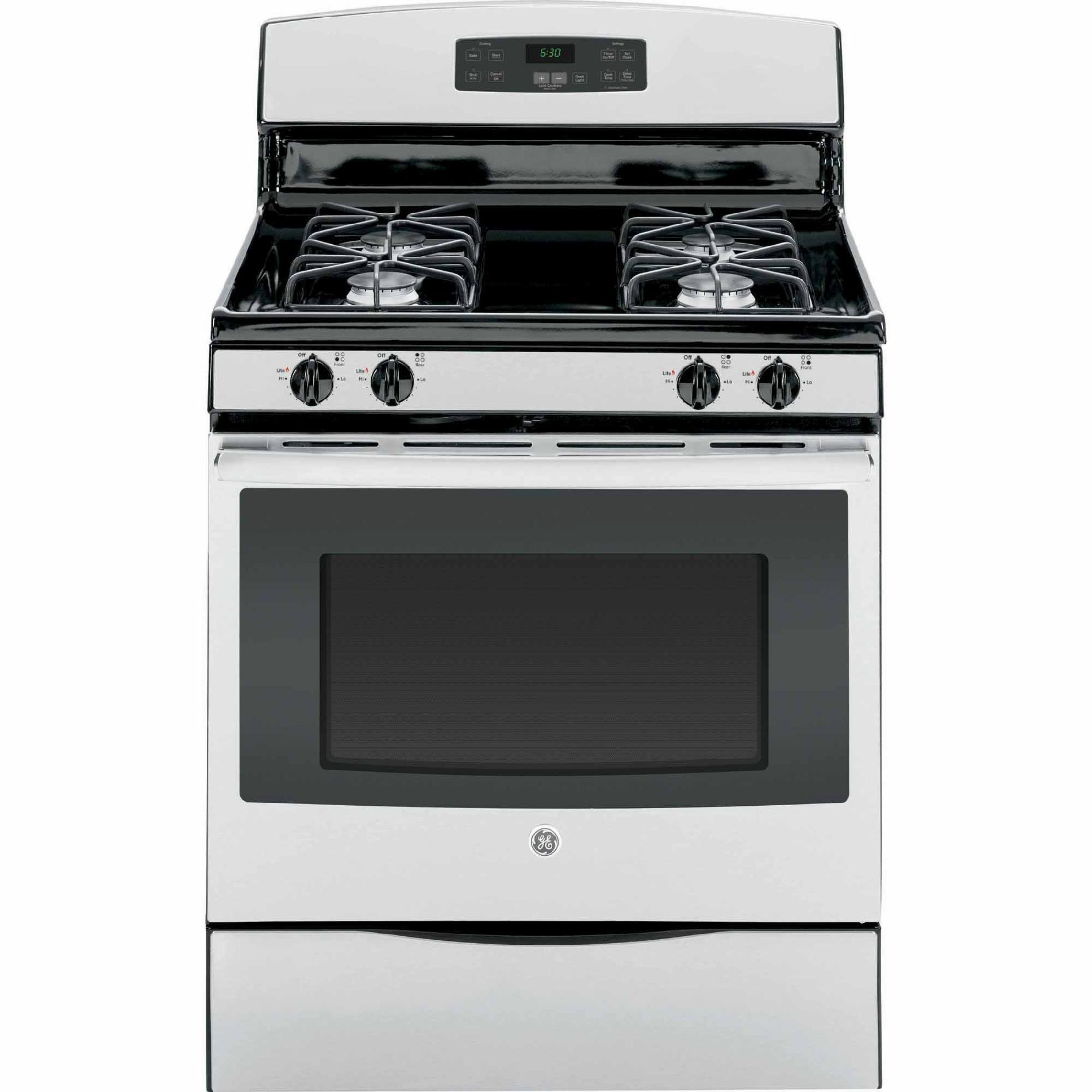 "General Electric 30"" 5 Cu. Ft. Free-Standing Gas Range, Stainless"
