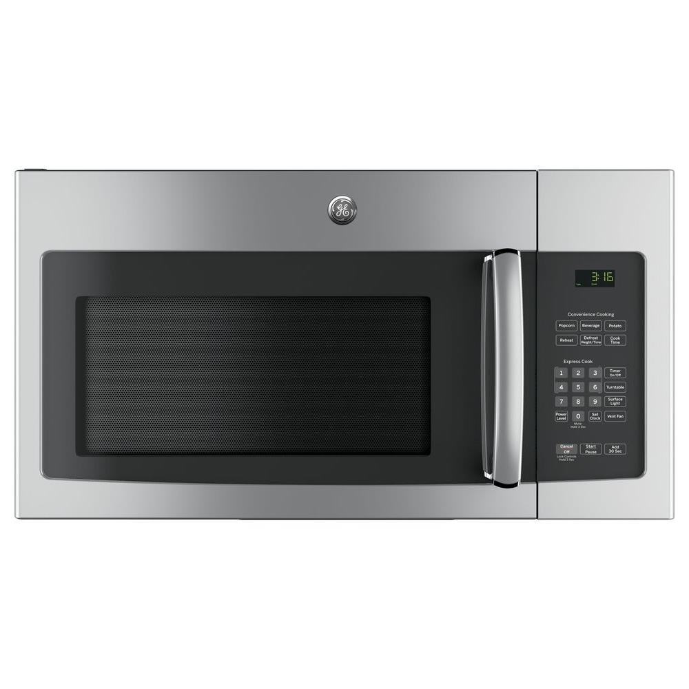 General Electric 1.5 Cu. Ft. Over-The-Range Microwave Oven, Stainless, 950 Watts