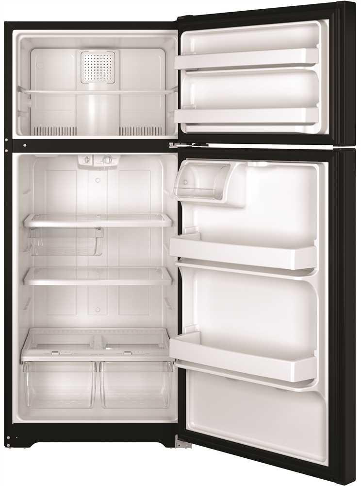 GE® 15.5 Cu. Ft. Top-Freezer Refrigerator with Reversible Door Swing, Black