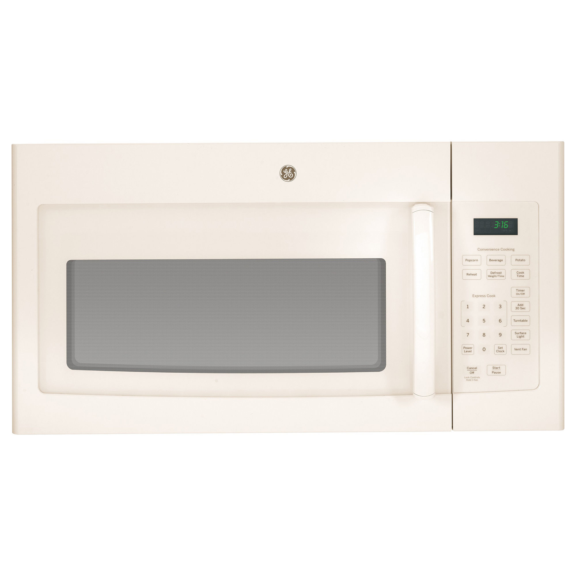 GE� 1.6 CU.FT. OVER-THE-RANGE MICROWAVE OVEN, BISQUE, 1000 W