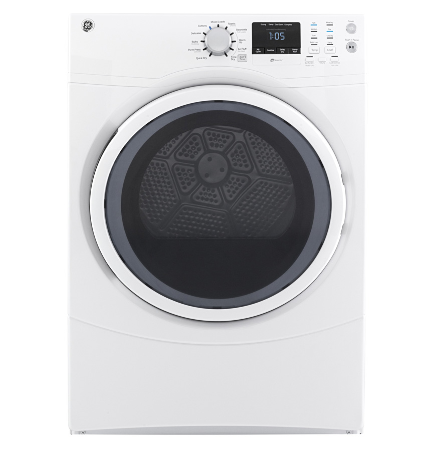 GE® 7.5 cu. ft. 10-Cycles Frontload Electric Dryer, White