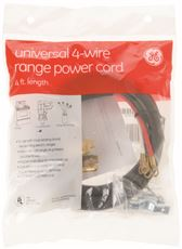 GE� 4 FT. RANGE CORD, 40 AMP, 4 WIRE