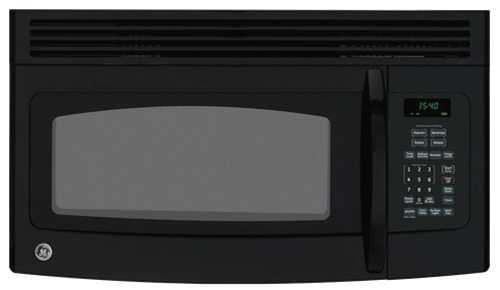 GE� 1.5 CU.FT. OVER-THE-RANGE MICROWAVE OVEN, BLACK, 950 W