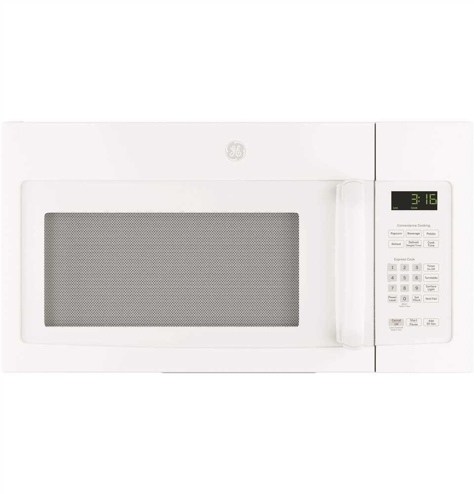 GE� 1.7 CU.FT. OVER-THE-RANGE MICROWAVE OVEN WITH RECIRCULATING VENTING, WHITE, 1000 WATTS