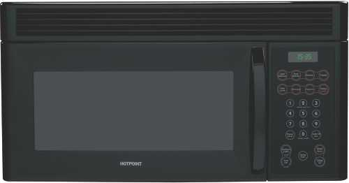 HOTPOINT 1.6 CU. FT. OVER-THE-RANGE MICROWAVE OVEN BLACK