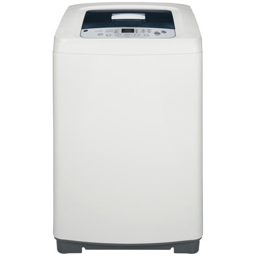 GE® Space-Saving 2.6 Cu. Ft. Capacity Stationary Washer with Stainless Steel Basket, White