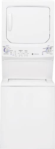 GE UNITIZED SPACEMAKER� 3.2 CU.' DOE WASHER & 5.9 CU.' ELECTRIC DRYER, WHITE