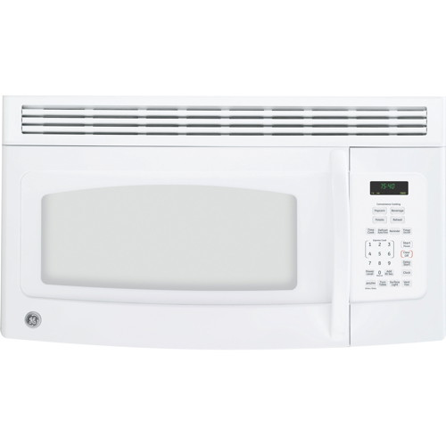 GE� 1.5 CU.FT. OVER-THE-RANGE MICROWAVE OVEN, WHITE, 950 W