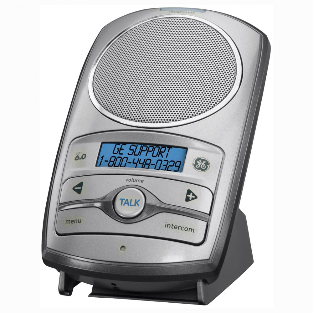 GE DECT 6.0 2-Way Wireless Speakerphone/Intercom System, Silver