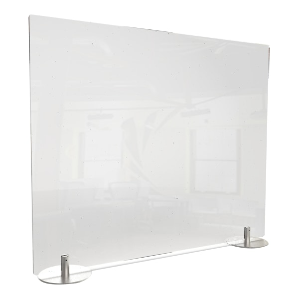 Desktop Free Standing Plastic Protection Screen, 23.75 x 5 x 29, Clear