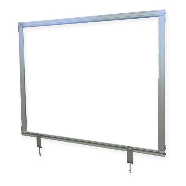 "Desktop Acrylic Protection Screen, 24.25"" x 1"" x 59.25"", Clear"