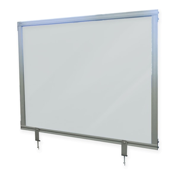 """Desktop Acrylic Protection Screen, 24.25"""" x 1"""" x 29.25"""", Frosted"""