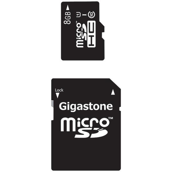 GIGASTONE GS-2IN1C1008G-R Class 10 UHS-1 microSDHC Card & SD Adapter (8GB)