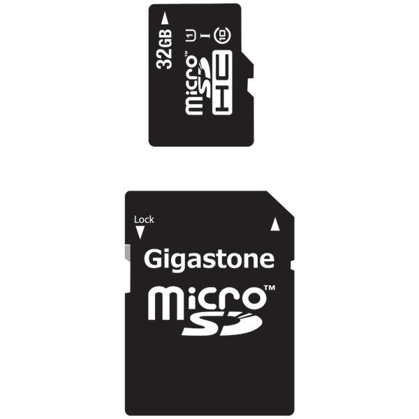 GIGASTONE GS-2IN1C1032G-R Class 10 UHS-1 microSDHC Card & SD Adapter (32GB)