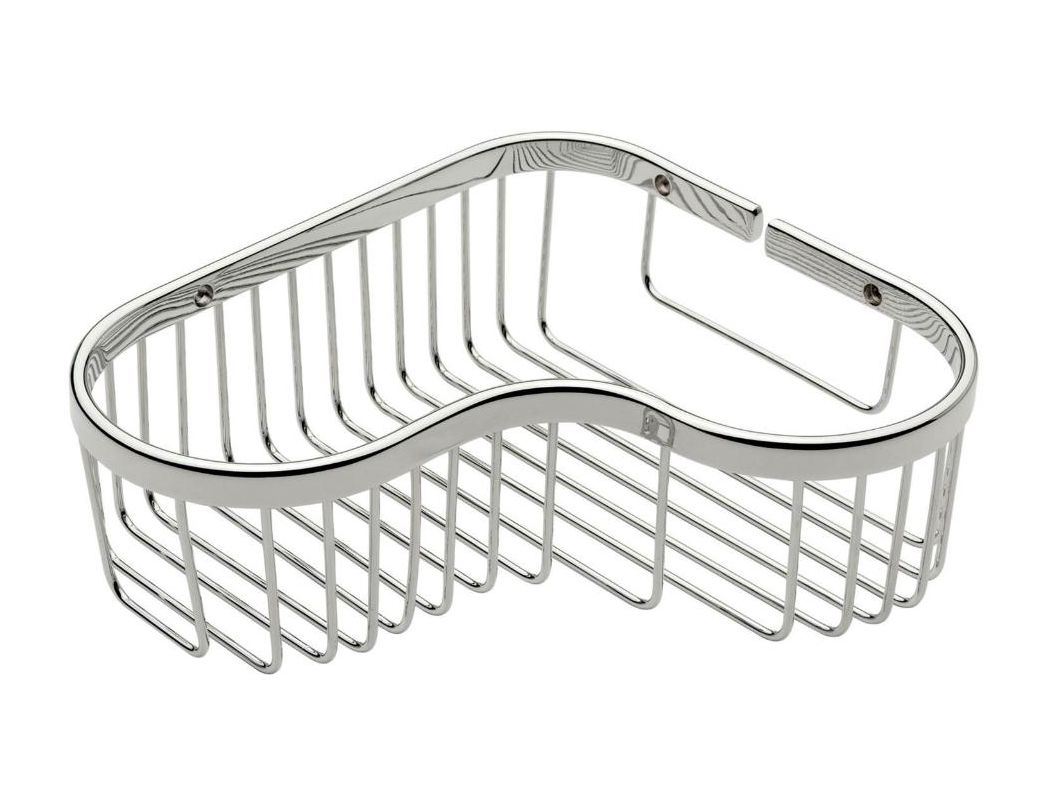 *SPLASH Large Corner Basket Polished Nickel