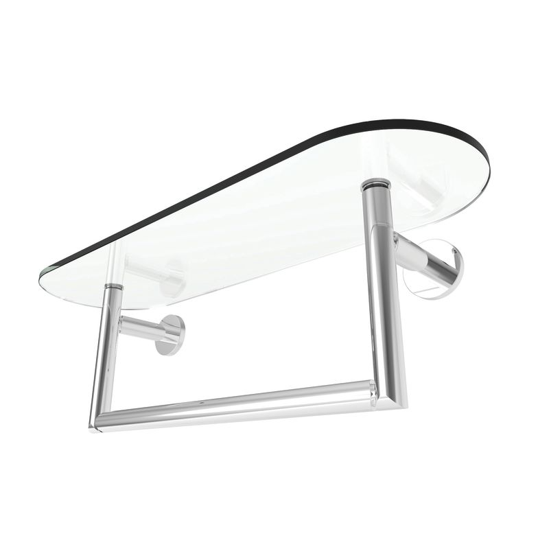 18 Tempered Shelf With Towel Bar *SINE Piece