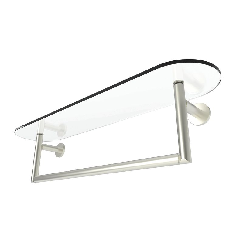 24 Tempered SHELF With Towel Bar *SINE SN
