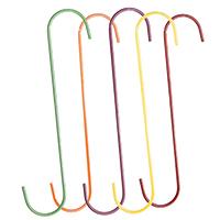 Glamos 74212 Heavy Duty Extension Hook, 12 in H, Powder Coated Galvanized, Orange/Yellow/Fuchsia/Red/Light Green