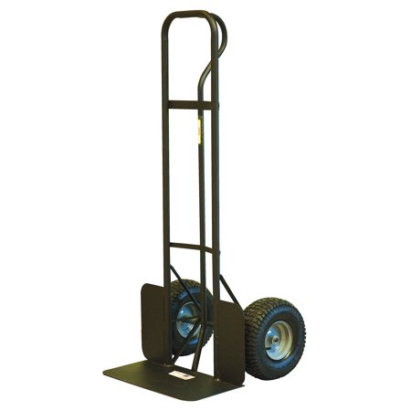 Gleason 49977 Heavy Duty Hand Truck With Wheel Guards, 1000 lb, 16 in Pneumatic Wheel, P-Handle Handle, Steel Hub