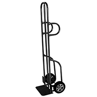 Gleason 47186S Dual Hand Truck, 600 lb, 8 in Solid Puncture Proof Wheel, Dual Loop Handle