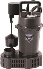 SUMP PUMP WITH VERTICAL FLOAT SWITCH, 1/3 HP
