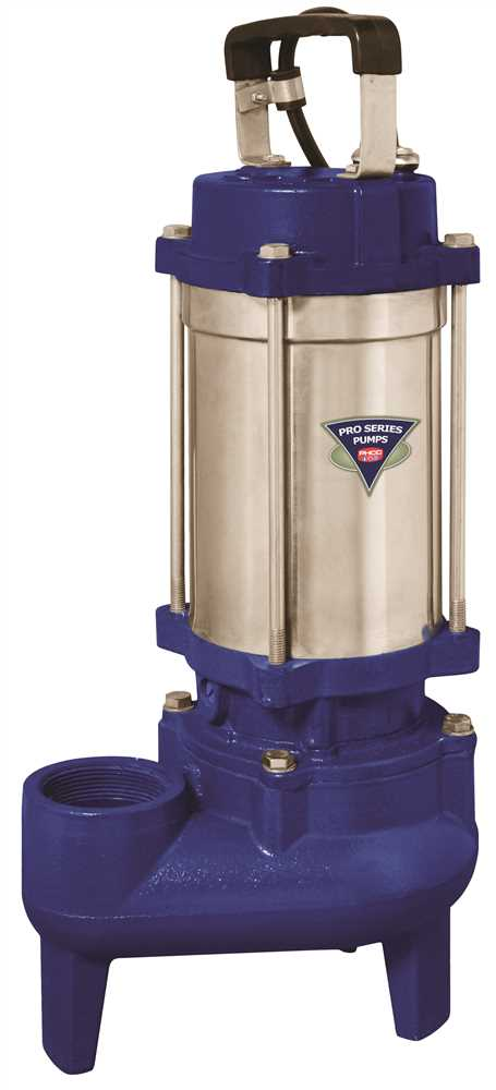 PHCC PRO SERIES CAST IRON / STAINLESS STEEL SEWAGE PUMP, 1 HP