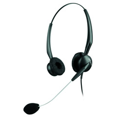 GN2125 Binaural Over-the-Head Telephone Headset w/Noise Canceling Mic