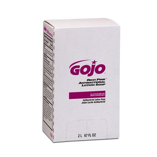 GOJO Rich Pink Antibacterial Lotion Soap - 2000 mL, 4/cs,