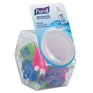 Advanced Instant Hand Sanitizer Gel, Jelly Wrap Bottle,1oz, 25/Bowl,1 Bowl/CT