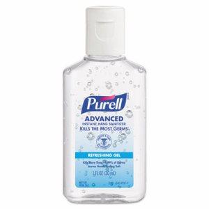 Advanced Instant Hand Sanitizer Gel, 1 oz Bottle, Lemon Scent