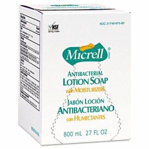 MICRELL Antibacterial Lotion Soap, Amber, 800mL Refill, 6/Carton