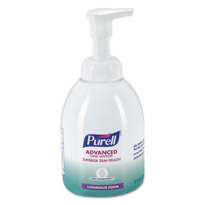 Advanced Hand Sanitizer Ultra Nourishing Foam, 18 oz Bottle, Fragrance Free