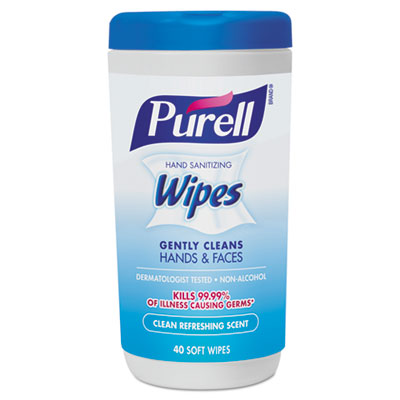 Hand Sanitizing Wipes, 5 7/10x7 1/2, Clean Refreshing Scent, 40/Canister, 6/Crtn