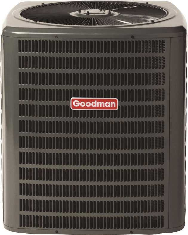 GOODMAN 14 SEER R410A AC CONDENSING UNIT, 2.5 TON, 30,000 BTU, 208/230 VOLTS, 17.1 AMPS