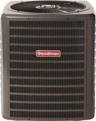 GOODMAN 14 SEER R410A AC CONDENSING UNIT, 5.0 TON, 60,000 BTU, 208/230 VOLTS, 32.8 AMPS
