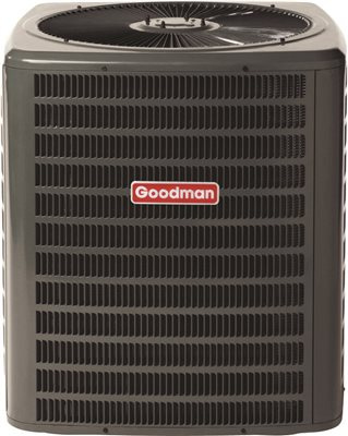 GOODMAN� SINGLE-PHASE 16 SEER R-410A CONDENSING UNIT, 5.0 TON, 54,000 BTU, 208 / 230 VOLTS, 29.6 AMPS