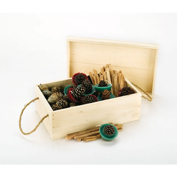 Woodfield Color Pine Cones Gift Box