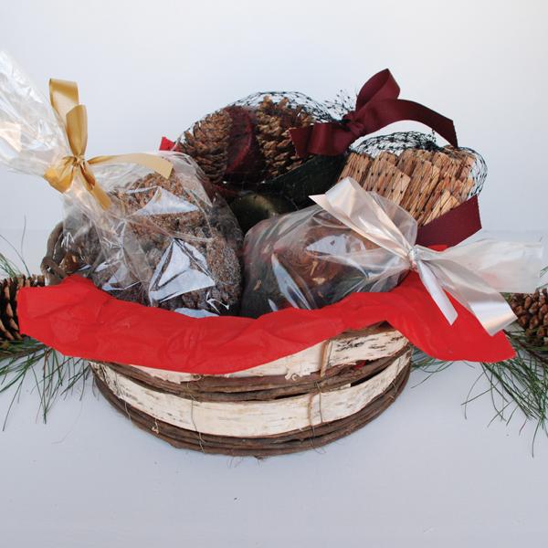Sampler Gift Basket. Woven Willow Basket